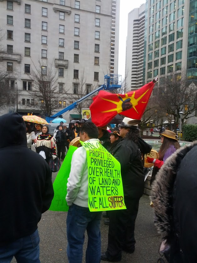 Native demonstrators at #IdleNoMore in Vancouver