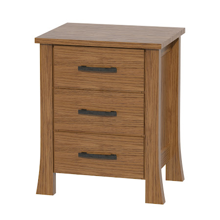 Matching Furniture Piece: Palermo Nightstand with Drawers, Medium Oak
