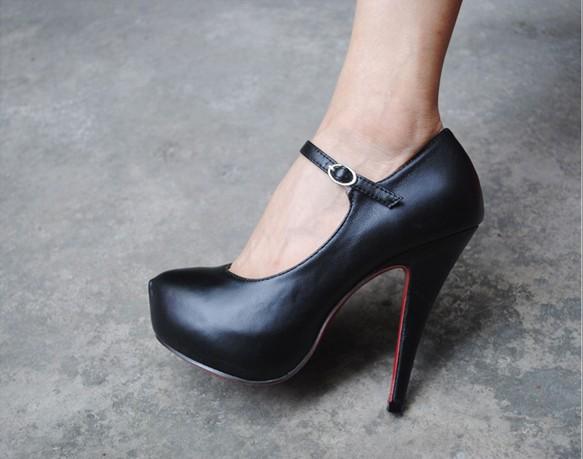 Туфли Черные На Высоком Каблуке