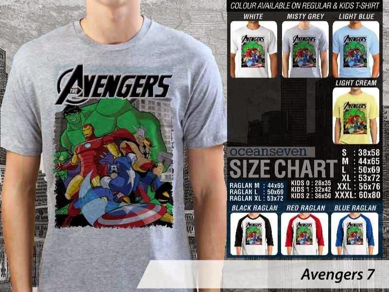Jual Kaos Captain America hulk iron man thor 7 Avengers