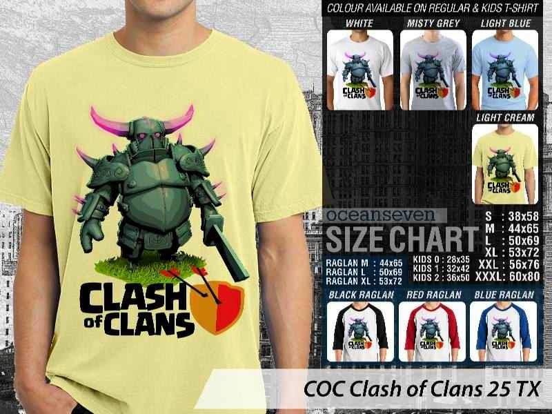 Kaos COC Clash of Clans 25 distro ocean seven