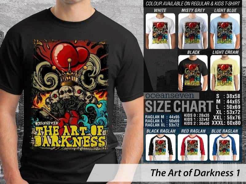 KAOS keren skull tengkorak The Art of Darkness 1 distro ocean seven
