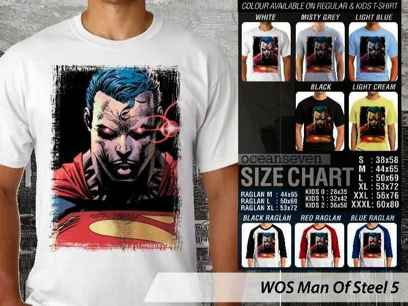 Kaos Superman Hitam Man Of Steel 50 Movie Series distro ocean seven