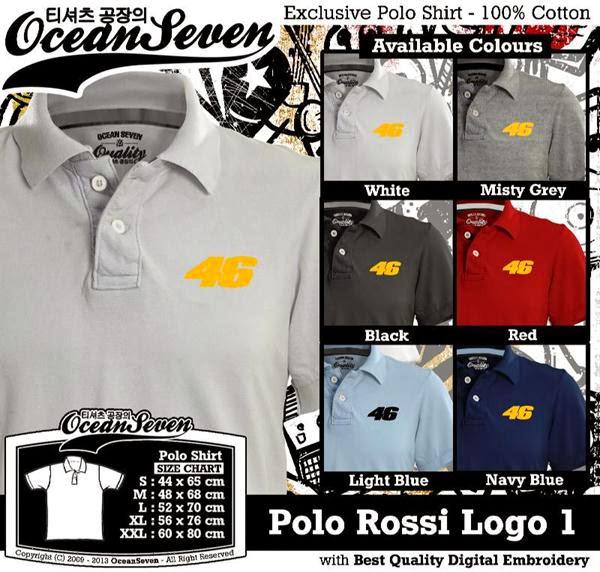 POLO Valentino Rossi 1 Logo distro ocean seven