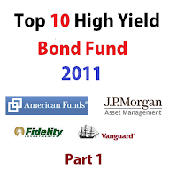 Top 10 High Yield Bond Mutual Funds 2011