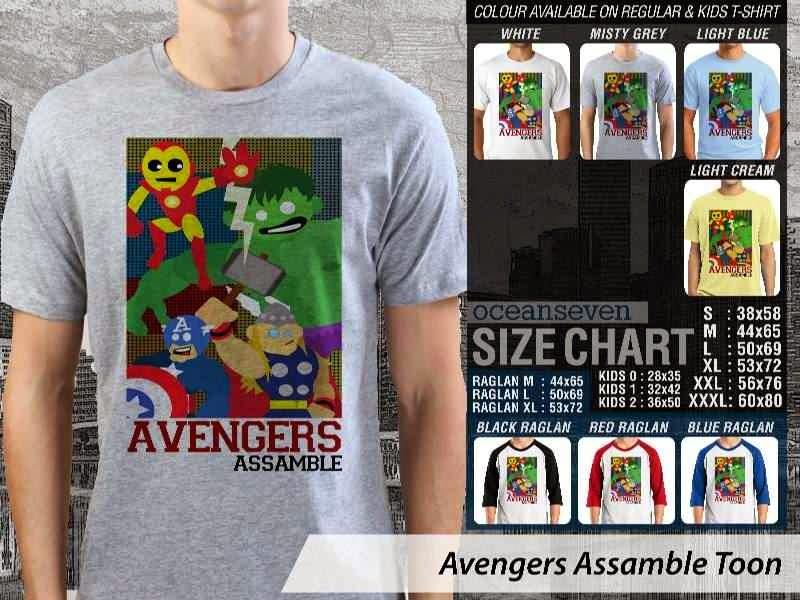 Jual Kaos Captain America hulk iron man thor 11 Avengers