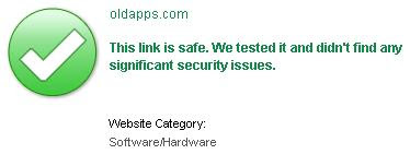 McAfee SiteAdvisor Says That The Site oldapps.com Is Safe
