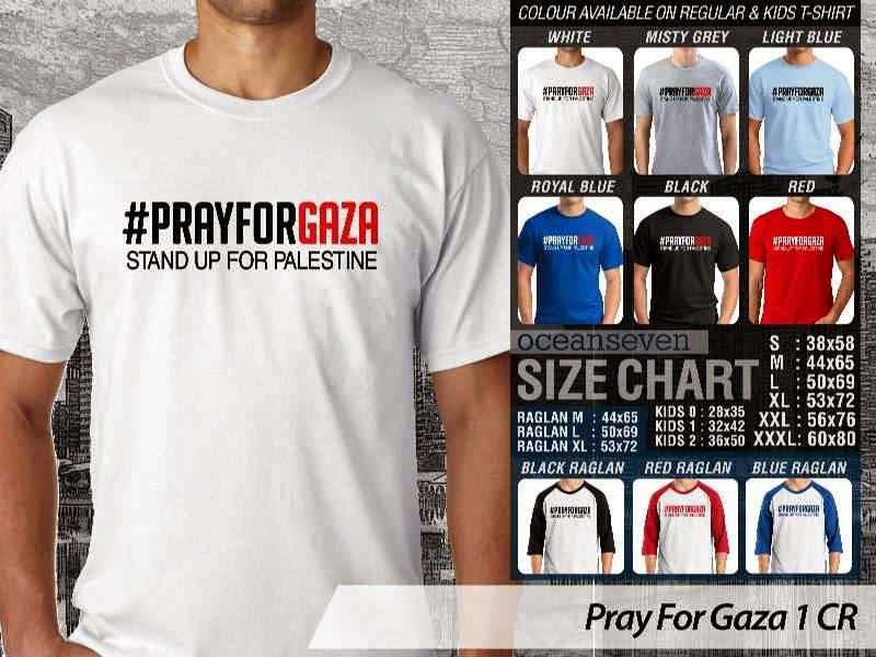 Kaos Muslim Islam Pray For Gaza 1 distro ocean seven
