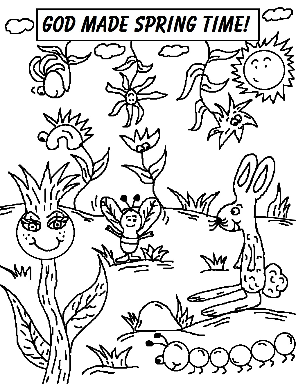 Spring coloring sheets for preschool - Spring Coloring Pages Toddlers Spring Coloring Pages For Toddlers Preschool And Springtime Coloring Pages