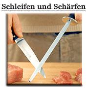 Messer schärfen Wetzstahl Abziehstahl Diamantabziehstahl von Marsvogel Solingen. Solinger Messer professionell schärfen.