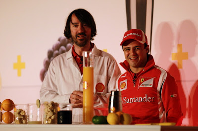 Фелипе Масса на спонсорском мероприятии Shell на Гран-при Великобритании 2011