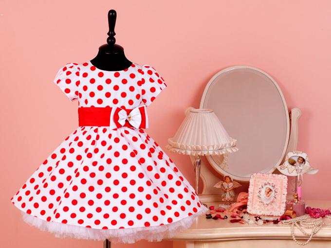 Платье детское горошек