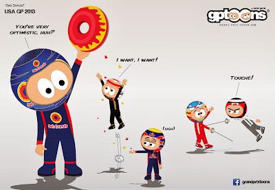 Себастьян Феттель выше всех - комикс Grand Prix Toons по Гран-при США 2013