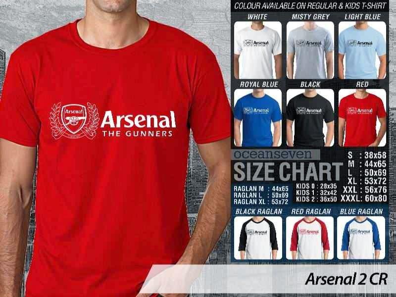 Kaos Bola Arsenal 2 Liga Premier Inggris distro ocean seven