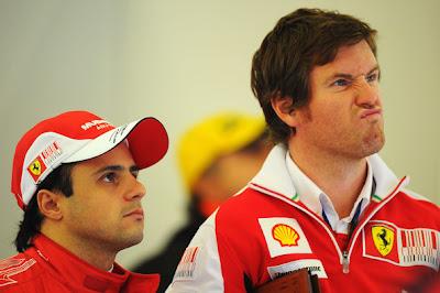 Фелипе Масса и Роб Смедли на Гран-при Бельгии 2010