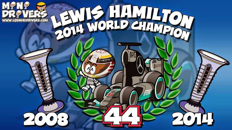 Льюис Хэмилтон - чемпион 2014 - комиксы MiniDrivers
