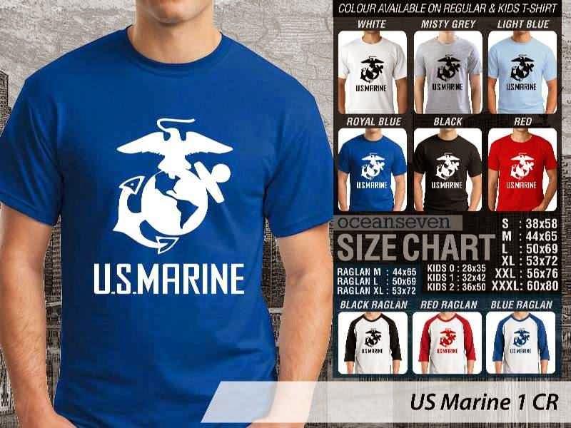 KAOS Militer US Marine 1 distro ocean seven