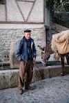 Man and donkey, Spain