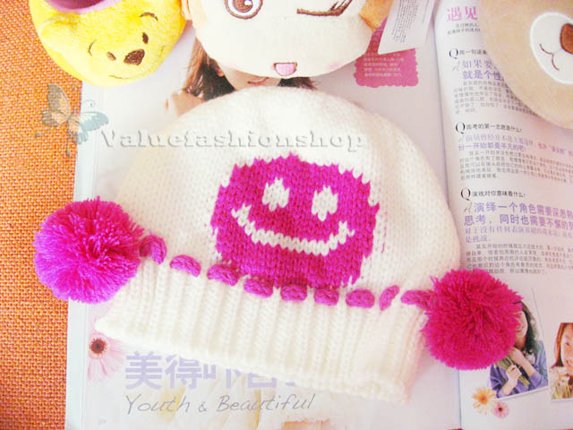 Cute Baby Boys Toddler Girl Knit Crochet Beanie Hat Infant Winter Warm Cap H1690