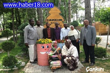 Çeşitli incelemeler ve ziyaretlerde bulunmak üzere Çankırı'ya