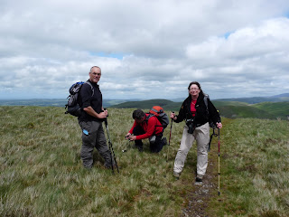 David Hall and Jill on Burnbank Fell. Not quite sure what Nigel is doing.
