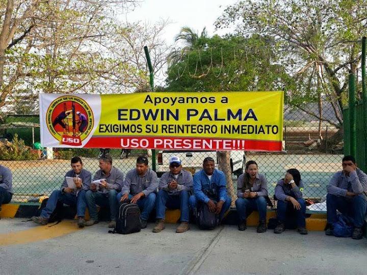 La USO exige a Ecopetrol reconsiderar despido de Edwin Palma