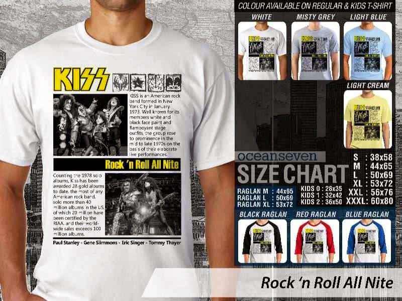 KAOS Rock n Roll Kiss 80 Rock Band Legends distro ocean seven