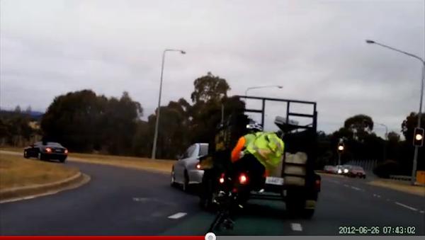 cyclist losing control