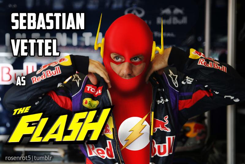 Себастьян Феттель Флэш The Flash by rosenrot5