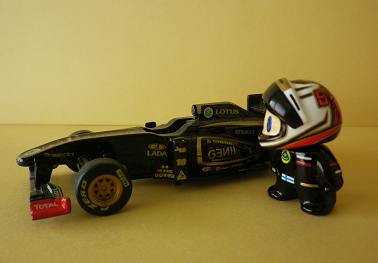фигурка Кими Райкконена 2012 и болид Lotus F1 от naokonen