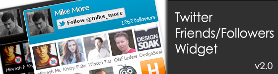 Twitter Friends/Followers Widget - v2.0 - A jQuery Plugin