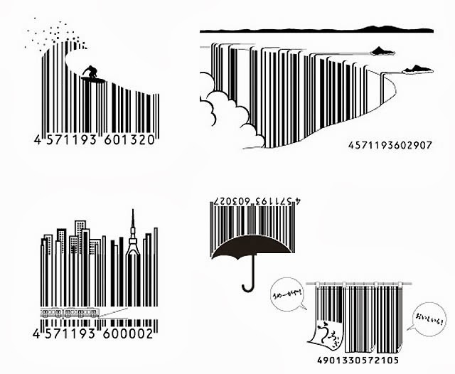 Dark roasted blend japanese creative barcodes