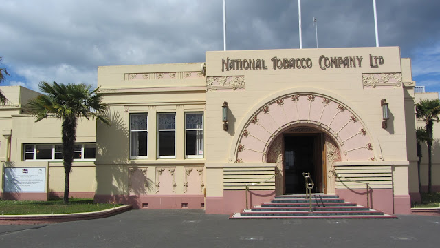 One of the best examples of Art Deco in Napier - The National Tobacco Company building.