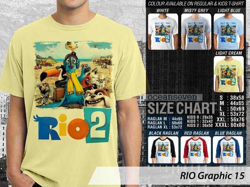 Kaos Film Animasi Lucu Desain RIO Graphic 15 distro ocean seven