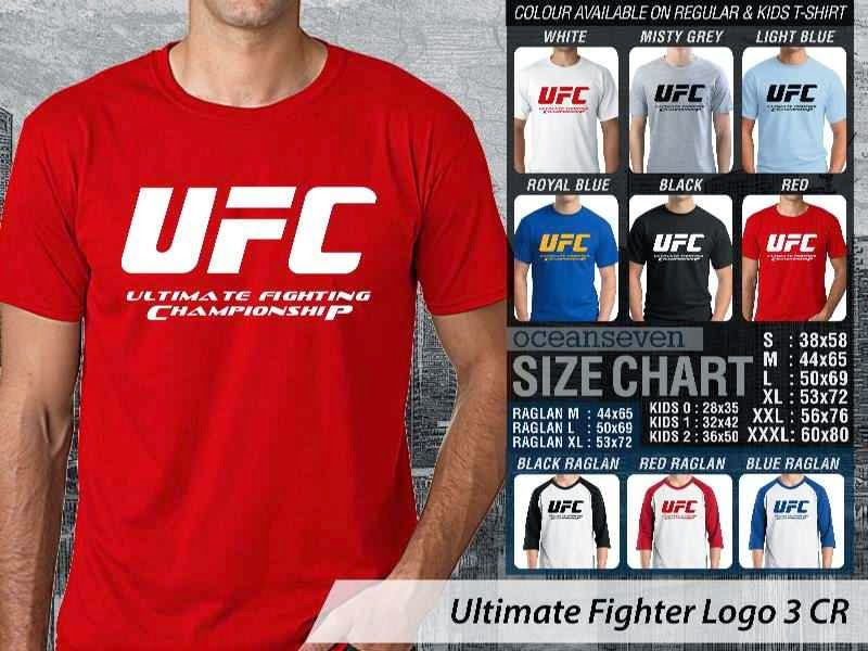 Kaos UFC Ultimate Fighter UFC Ultimate Fighting Championship Logo 3 distro