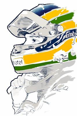 Бруно Сенна - рисунок Paul Vera-Broadbent