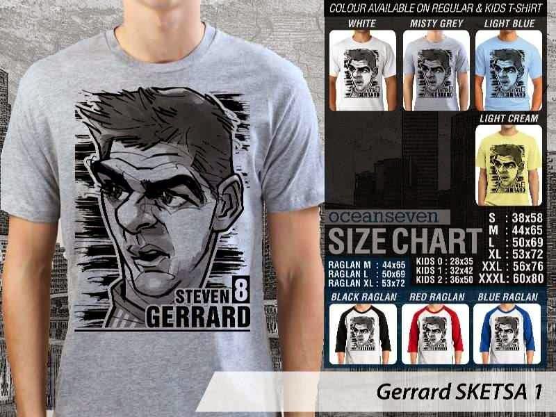 KAOS Steven Gerrard Artwork Sketsa distro ocean seven