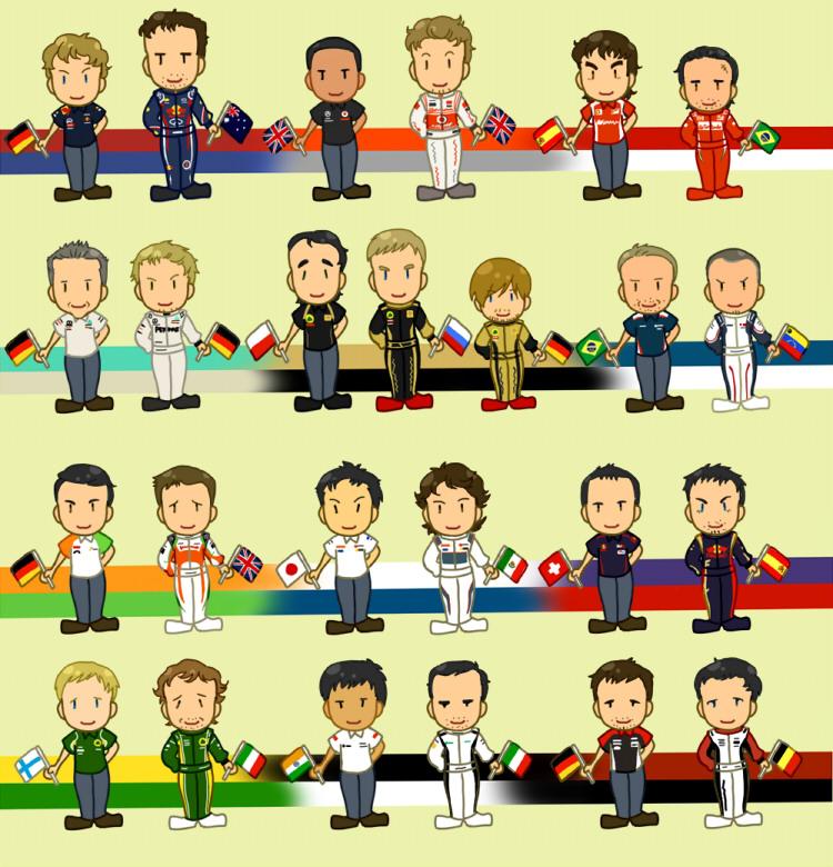 пилоты Формулы-1 сезона 2011 картинка Uli