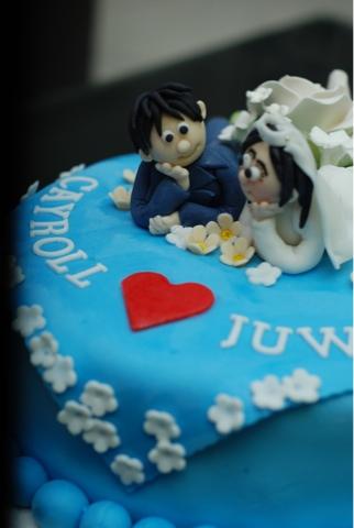 kek pengantin comel