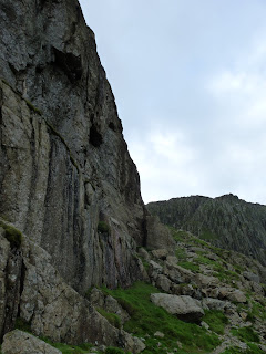Flat Crags with Bowfell Buttress beyond
