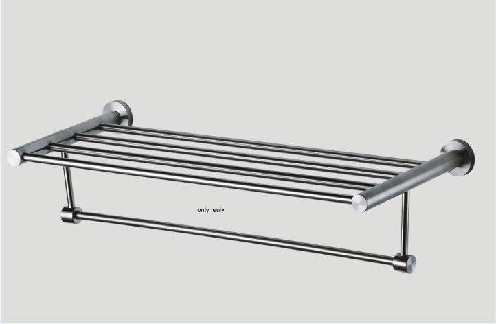 edelstahl bad handtuchhalter wandhandtuchhalter handtuch badregal wandregal matt ebay. Black Bedroom Furniture Sets. Home Design Ideas