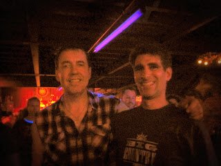 Mike with drummer Mark Brzezicki from Big Country