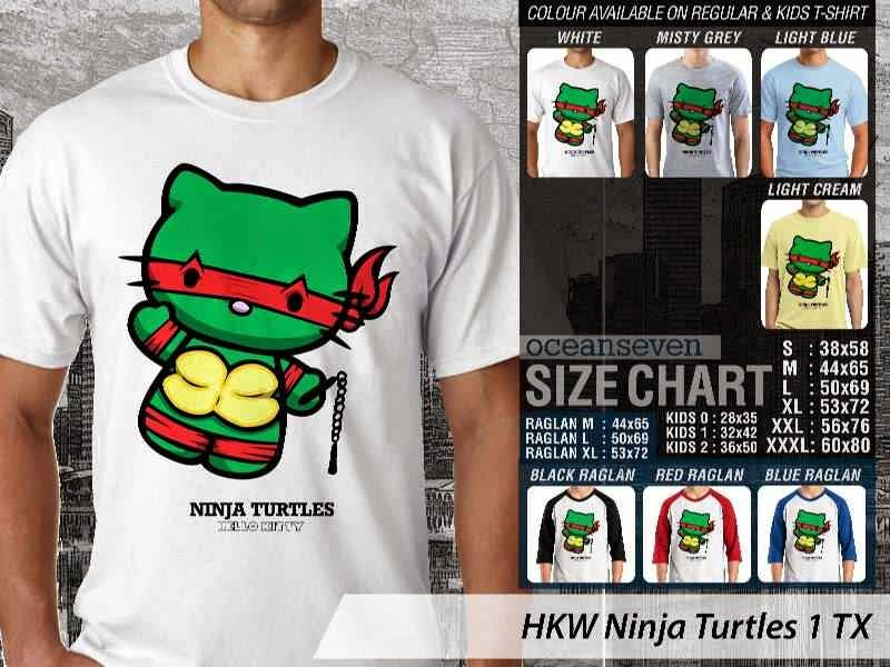 Jual Kaos kartun lucu Ninja Turtles 1 distro ocean seven