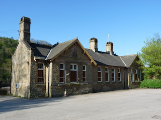 Millers Dale Station buildings. The station is on the Monsal Trail line. The railway line passes through some of the most beautiful parts of the Peak District. The Monsal trail is not quite as popular as the Tissington or High Peak Trails.