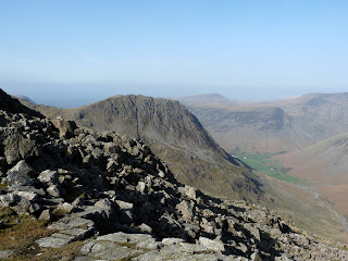Lingmell comes into view as well as Wasdale Head.
