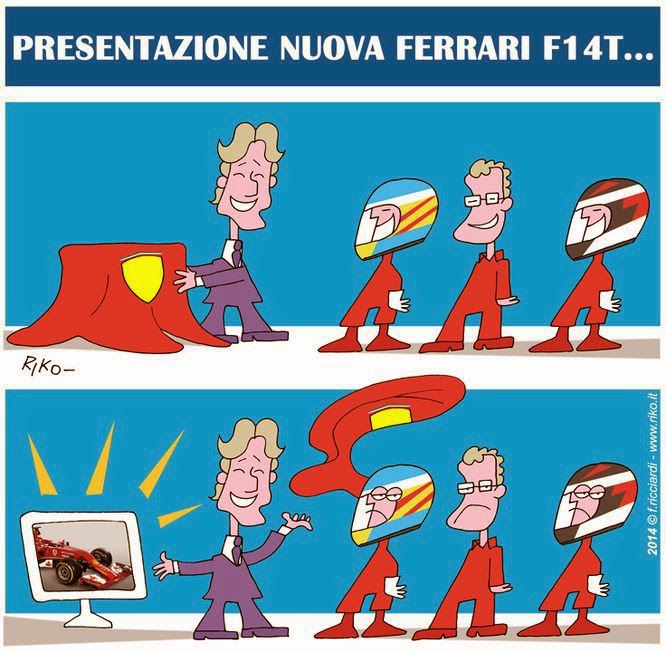 презентация Ferrari F14T - комикс Riko