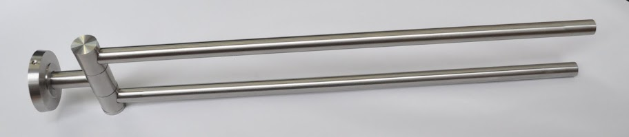 Edelstahl-Doppel-Halter-Handtuchhalter-Handtuchstange-Bad-Wandhandtuchhalter