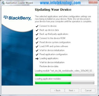cara upgrade Blackberry OS