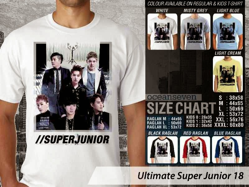 Kaos K Pop SUJU Ultimate Super Junior 18 Boy Band Asal Korea distro ocean seven