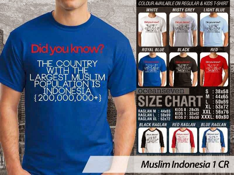 Kaos Islami Indonesia 1 Did Your Know The Country with The Largest Muslim Population is Indonesia {200000000+} distro ocean seven